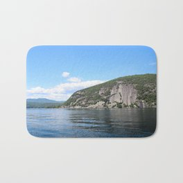 Summer's End: Roger's Rock on Lake George Bath Mat