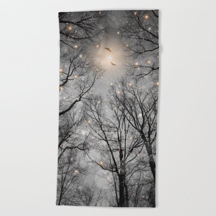 Nature Blazes Before Your Eyes 2 (Ash Embers) Beach Towel