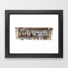 O'Mally's pub, Sacramento Framed Art Print