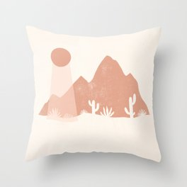sonoran shapes Throw Pillow