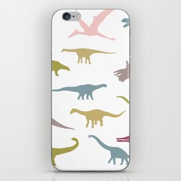 Colorful dinos pattern iPhone Skin