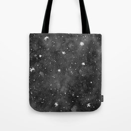 Watercolor galaxy - black and white Tote Bag