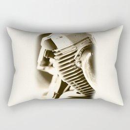 Motorbike engine close-up view Rectangular Pillow