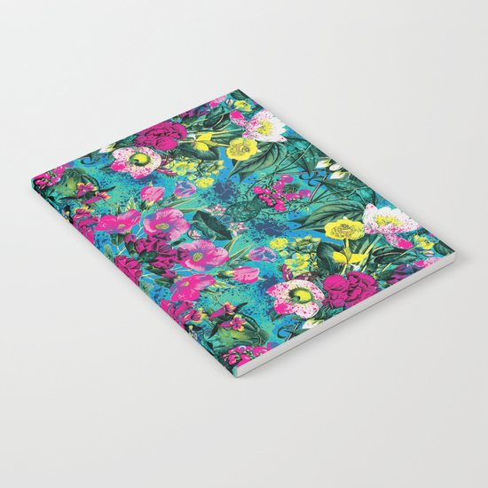 Neon Floral Notebook