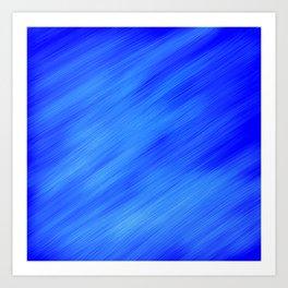 Blue White Swipe Art Print