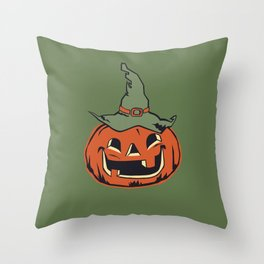Vintage Jack O Lantern Pumpkin Throw Pillow