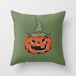 Vintage Jack O Lantern Pumpkin Throw Pillow