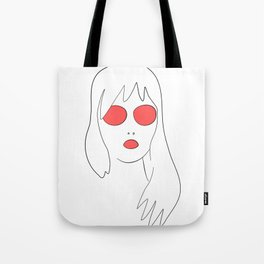 Red glass Tote Bag