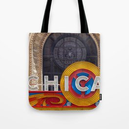 Chicago Neon Sign Tote Bag