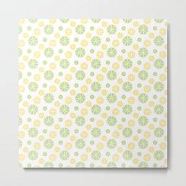 Citrus slice pattern Metal Print