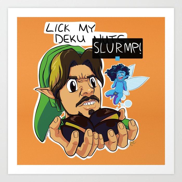 Game Grumps: Legend of Slurmp Art Print