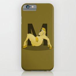 Pony Monogram Letter m iPhone Case
