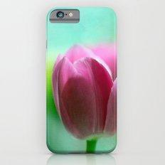 PINK TULIP ON LIGHT GREEN  Slim Case iPhone 6s
