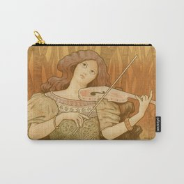 Vintage French art Nouveau Violin poster Carry-All Pouch