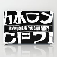 cowboy bebop iPad Cases featuring Chuggalo Bebop by How Much Can You Chug Foo?!