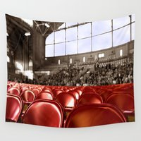gym Wall Tapestries featuring A Gym audience by Brown Eyed Lady