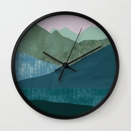 Mountain River #1 Wall Clock