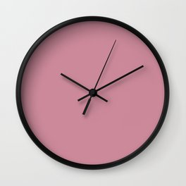 Puce Pink Solid Color Wall Clock