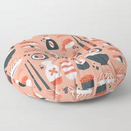 Sushi Dreams – Coral Floor Pillow