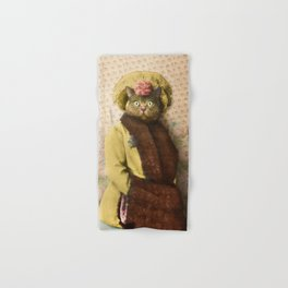 Lady Vanderkat with Roses Hand & Bath Towel