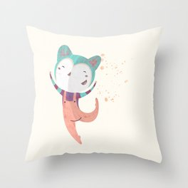 Dance Dreams (Cream) Throw Pillow