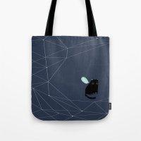 alisa burke Tote Bags featuring my_spacecat by .eg.