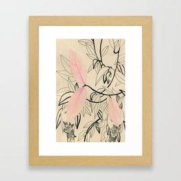Line drawing leaves #5 Framed Art Print