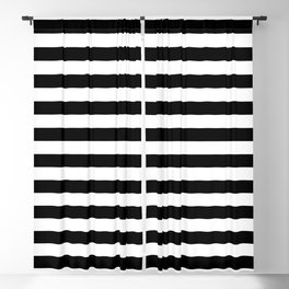 Abstract Black and White Stripe Lines 12 Blackout Curtain