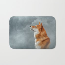 Drawing Japanese Shiba Inu dog Bath Mat