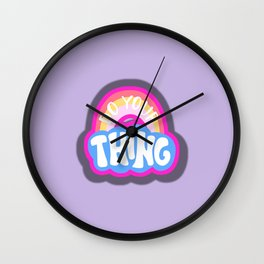 Do Your Thing Retro Vibes Wall Clock