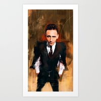 tom hiddleston Art Prints featuring Tom Hiddleston by Wisesnail