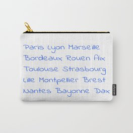 France's Cities- France, Français,française, French,romantic,love,gastronomy Carry-All Pouch