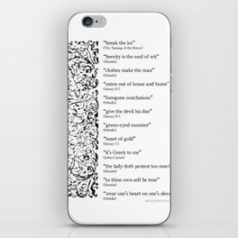 Words Words Words - William Shakespeare Quotations print iPhone Skin