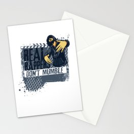Real Rappers Don't Mumble Humorous Pop Music Hip Hop Rapping Gift Stationery Cards