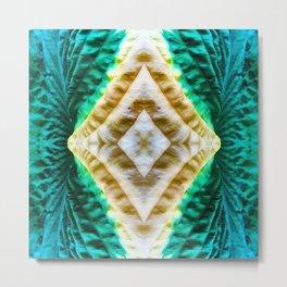 85 - Hosta abstract pattern Metal Print