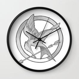 Mockingjay Symbol Wall Clock