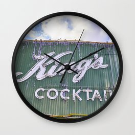 King's Cocktails Wall Clock
