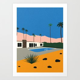 Palm Springs Bungalow Art Print