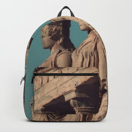Caryatids of the Erectheum, ancient greek, Agora of Athens, Erectheum, Greece photography, Athens Acropolis Backpack