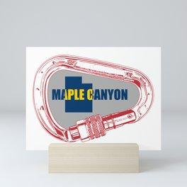 Maple Canyon Climbing Carabiner Mini Art Print