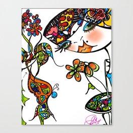 Grafitti Couture En Primavera Canvas Print