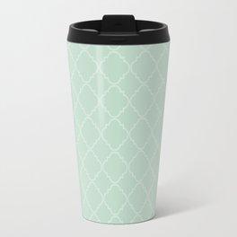 Quatrefoil - Mint Travel Mug
