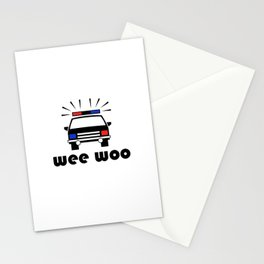 Police Car Wee Woo Stationery Cards