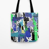 into the wild Tote Bags featuring wild by beautifyprints