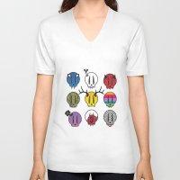 skulls V-neck T-shirts featuring Skulls by Aillustrations