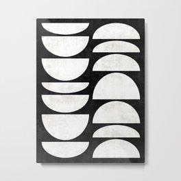 Mid-Century Modern Pattern No.8 - Concrete Metal Print