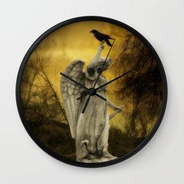 Golden Eclipse Wall Clock