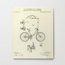 Bicycle parasol-1896 Metal Print