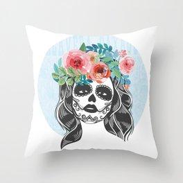 La Calavera Catrina Throw Pillow