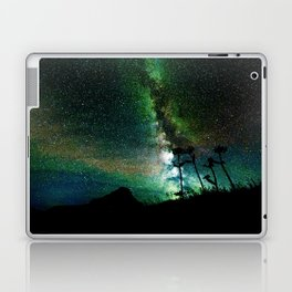 Green Teal Milky Way Landscape Laptop & iPad Skin